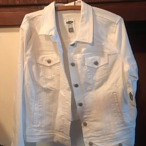 Old Navy White Denim Jacket XL